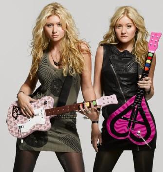 Aly and AJ Design Guitar Hero and Rock Band Guitars