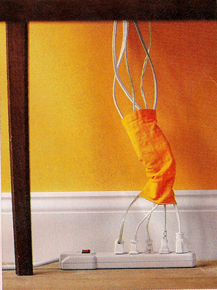 Geek Tip: Use an Old Tube Sock to Round Up Your Cords