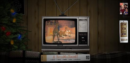 Website of the day a betamax xmas popsugar tech for Living room 80s