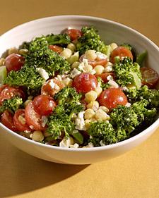 Mini Forest Side: Broccoli, Chickpea, and Tomato Salad