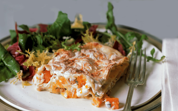 Butternut squash and hazelnuts make this lasagna a perfect hearty meal for a late brunch.