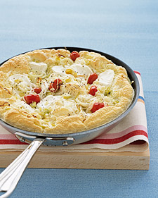 Surprise mom with the flavor of ripe tomatoes and goat cheese in this simple to make frittata.