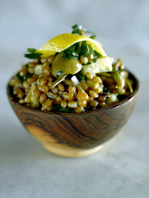 Smoky Side: Wheat Berry-Smoked Gouda Salad