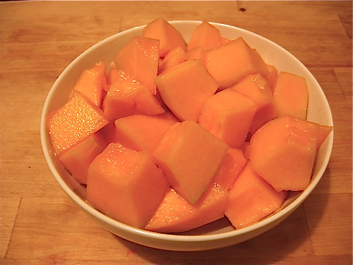 Preparing Cantaloupe