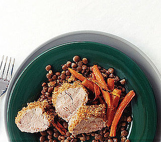 Monday's Leftovers: Mustard-Crusted Pork, Carrots & Lentils
