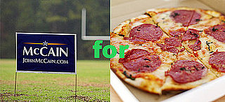 Pizzeria Offers Free Slices For McCain Signs