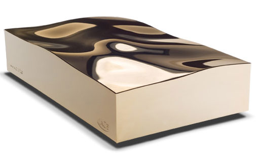 Gold LaCie External Hard Drive