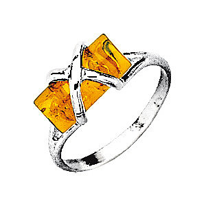 MATY - Silver Amber Ring