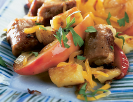 "Fast & Easy Dinner: Apple-Potato-""Sausage"" Sauté"