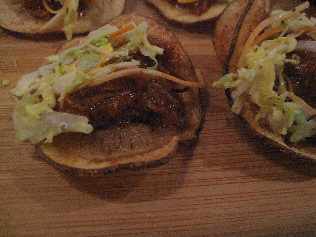 The chef at Maverick — Scott Youkilis — was serving a scrumptious barbequed pork on sartoga chip with coleslaw. While I thought the bite was delicious, he served this at last year's Taste making it lose points for a lack of creativity.