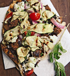 Fast & Easy Dinner: Grilled Greek Pizza