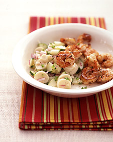 Fast & Easy Dinner: Seared Shrimp With Cucumber Salad
