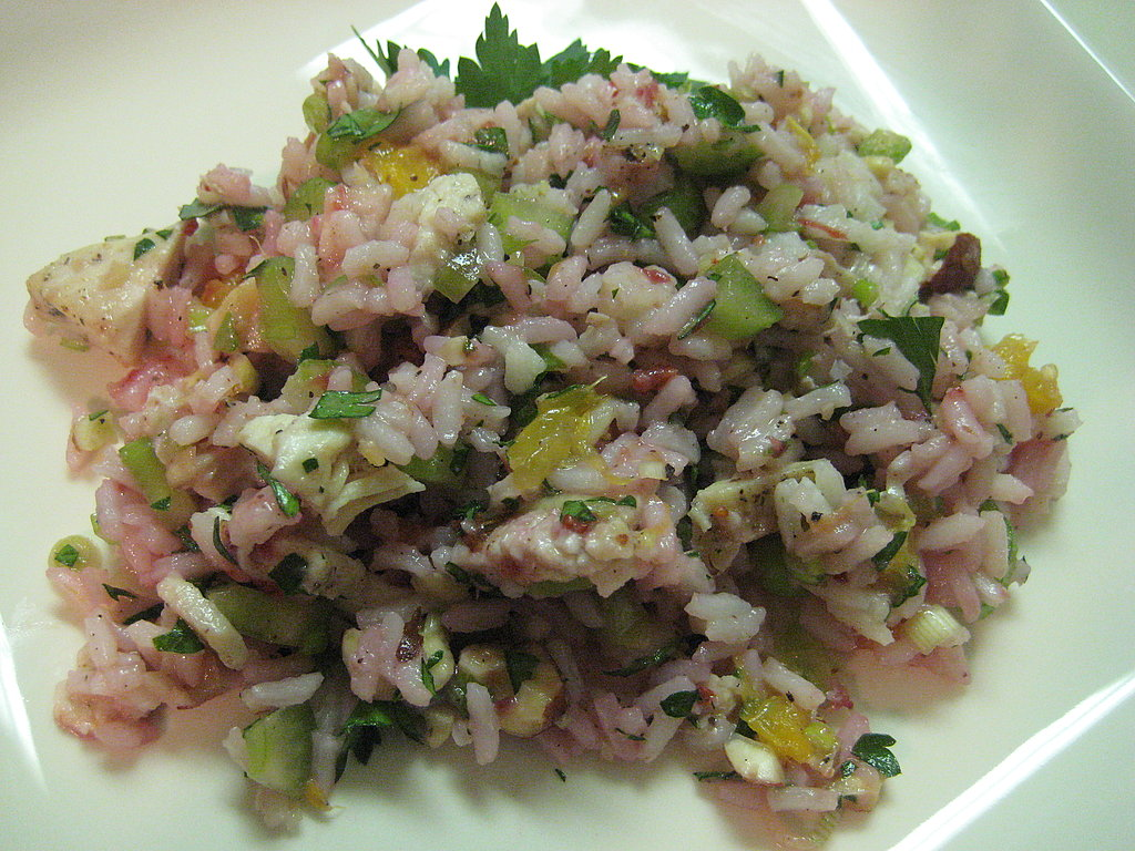 Chicken and Rice Salad with Cranberry Vinaigrette