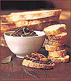 Crostini With Lentil and Green Olive Salad