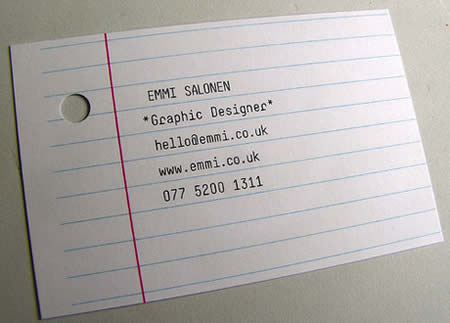 A graphic designer's business card.