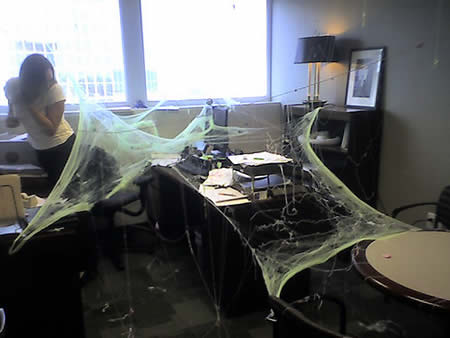 Haunted office.