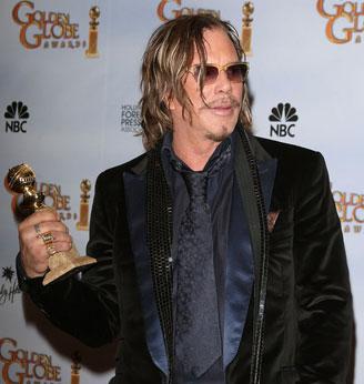 Mickey Rourke Credits Pups in Golden Globe Speech!