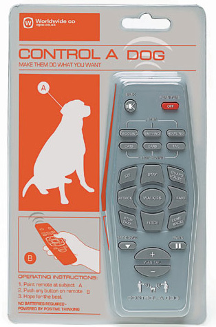 Control a Dog Remote Powered by Positive Thinking