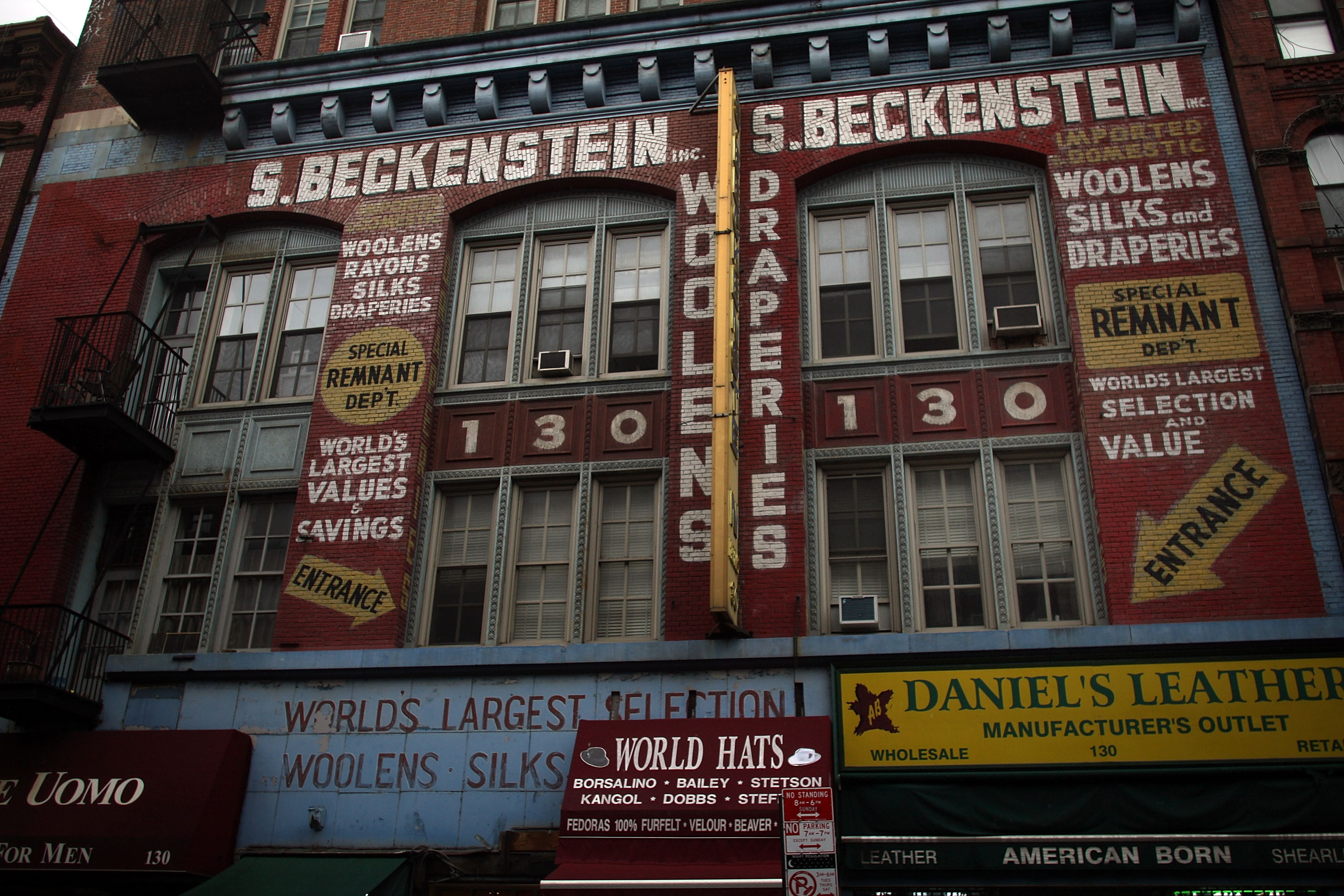 An aging department store is one of only a handful still standing on Orchard Street in the Lower East Side.