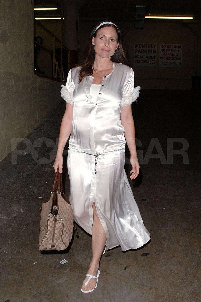 The multi–talented Minnie Driver dressed up in white for a show in Hollywood.