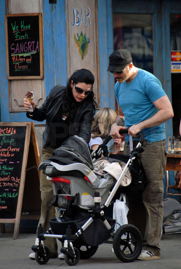 Julianna Margulies and Son in NYC