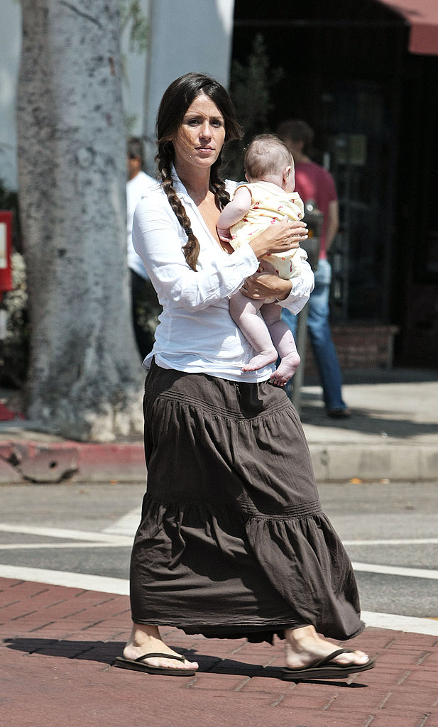 Soleil Moon Frye and Jagger Cuddle in the Sun
