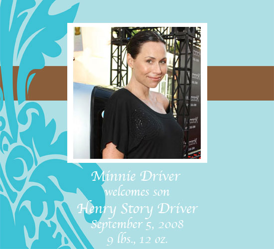 Minnie Driver Has a Baby