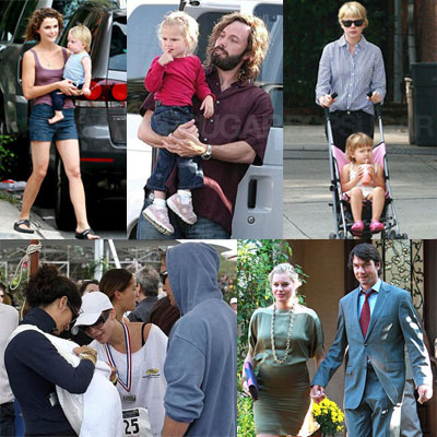 Celebrities and Their Babies Over the Weekend 2008-09-15 15:00:16