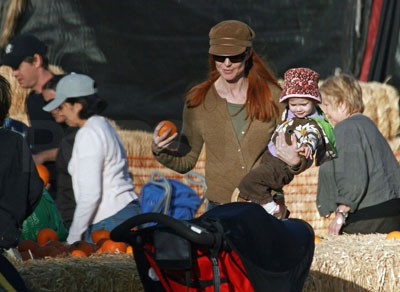 Marcia Multitasks at the Pumpkin Patch