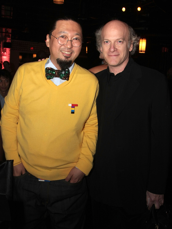 Takashi Murakami (L) and photographer Timothy Greenfield-Sanders