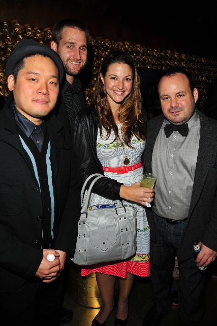 Eddy Chai, Alison Pawling (designer of West/Feren), husband, Paul Birardi
