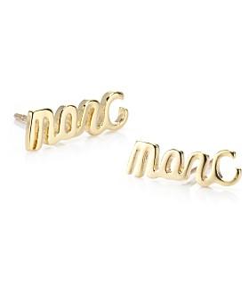 Marc by Marc Jacobs Script Earrings $38, eLuxury