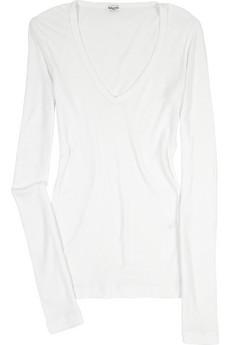 Splendid V-Neck Cotton Shirt $46, Net-a-Porter