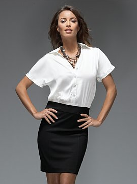 Two-Tone Shirt Dress $47.60, New York & Co.
