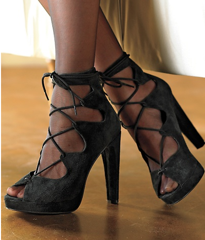 Peep Toe Platform Pump $49, Newport News
