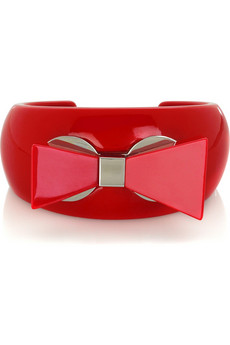 Bowhaus Acrylic Cuff $98 Net-a-Porter