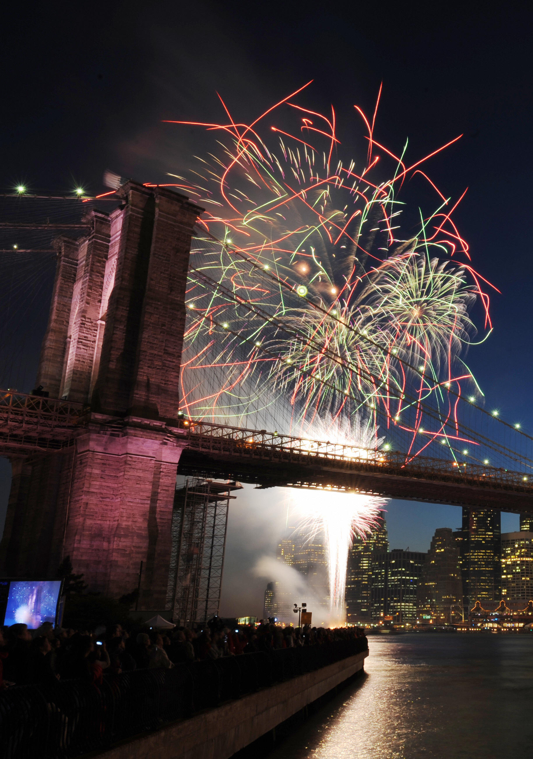 New York hosted a fireworks display.
