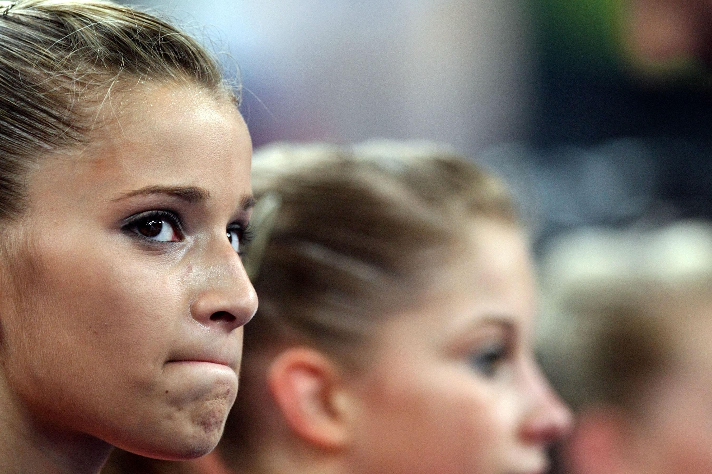 Alicia Sacramone is not happy.