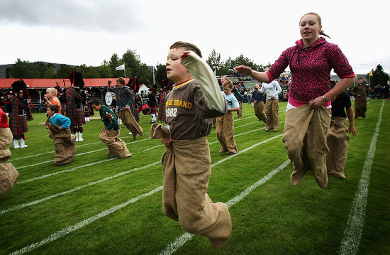 Kilts and Queen Gather For Traditional Scottish Games