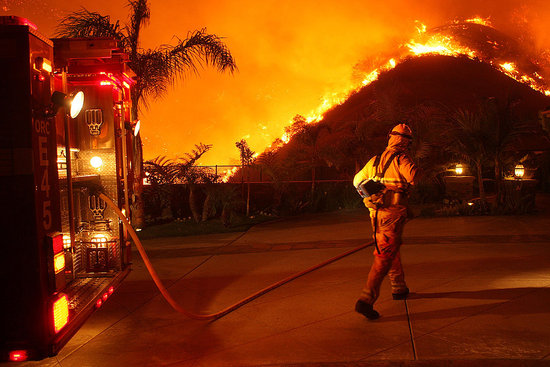 Front Page: Southern California Fires Rage On