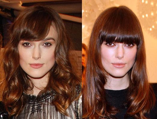 How Do You Prefer Keira Knightley's Bangs?