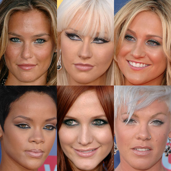 Blue Eye Makeup Trend at the 2008 VMAs