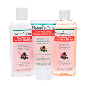 Review of Nature's Cure Anti-Acne Papaya Skin Care System