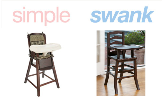 Simple or Swank: Wooden High Chairs