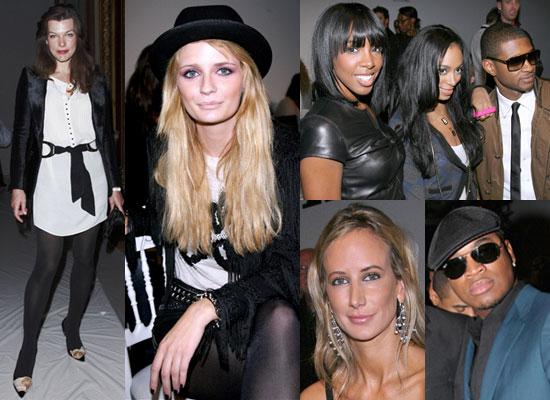 Photos Of Mischa Barton, Kelly Rowland, Usher, Solange Knowles, Ne-Yo, Milla Jovovich, Victoria Hervey at Paris Fashion Week