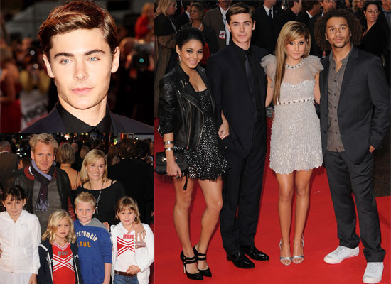 Photos From London's High School Musical 3: Senior Year Premiere, Featuring Zac Efron, Vanessa Hudgens, Corbin Bleu and more.