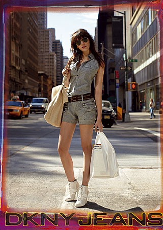Daisy Lowe in New York for DKNY Jeans