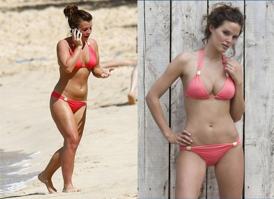 Found: Coleen's Coral Bikini