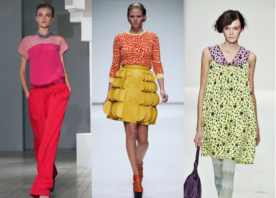 Spring 2009 London Fashion Week, Christopher Kane, Eley Kishimoto, Trend Alert, Neon Pastels