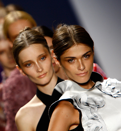 Photos of Models at Vivienne Tam Runway Catwalk Show New York Fashion Week Spring 2009. Hair and Beauty Latest Trends